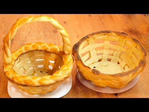 Плетёная пасхальная корзинка из теста / Yeast dough Easter basket recipe ♡ English subtitles