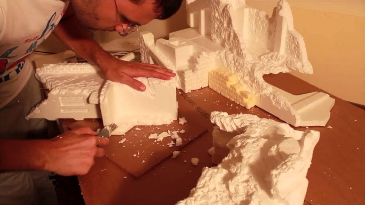Modellazione professionale polistirolo presepe - Fai da te presepe casa ...