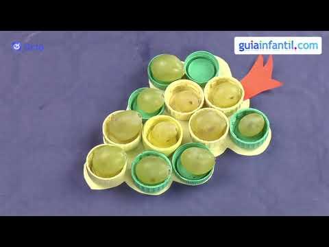 Bandeja para servir uvas. Manualidades de reciclaje