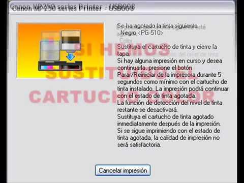 resetare cartuse Canon Pixma MP 250