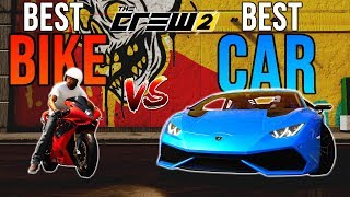 The Crew 2: Best Car VS Best Bike! (Maxed) Which is faster?