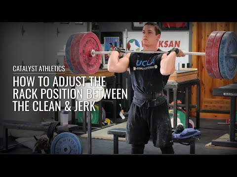 Adjusting between the Clean and Jerk Rack Positions - Olympic Weightlifting