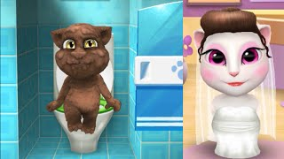Level 56 Vs level 41/My Talking Tom Mirroring Vs My Talking Angela Gameplay make for Kid. Ep.28