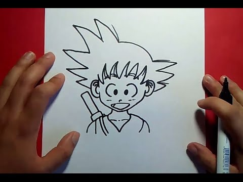 Como dibujar a Goku paso a paso - Dragon ball | How to draw goku - Dragon ball