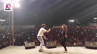 निशा जी और खेसारी लाल यादव हॉट डांस। ओठलाली से रोटी बोर के। Kheari lal Yadav Hit Stage Show 2017
