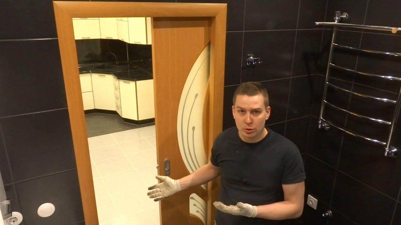 Как установить дверь купе в стену своими руками
