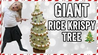 GIANT RICE KRISPY (KRISPMAS) TREE