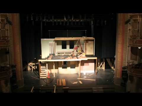 Va Stage Anne Frank Scenery Time Lapse Youtube