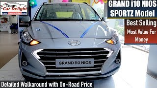 Grand i10 NIOS Sportz Detailed Review with On Road Price,Features,Interior | Grand i10 NIOS Sports