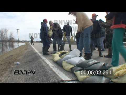 3/24/2009 Richland County North Dakota Flooding stock video - Part 1