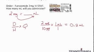 Dose Conversion #1 - mg to mL Using Label