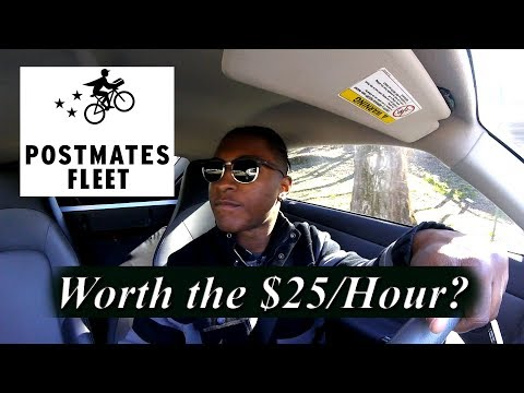 $1500/Week??? Driving for Postmates Fleet | Dream Driven 026