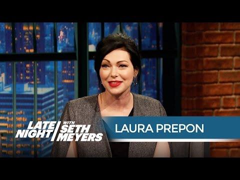 Laura Prepon Talks Orange Is the New Black Season 3 - Late Night with Seth Meyers