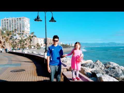 Torremolinos Beach Spain Christmas 2016