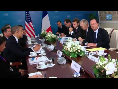 President Obama's Bilateral Meeting with President Hollande of France
