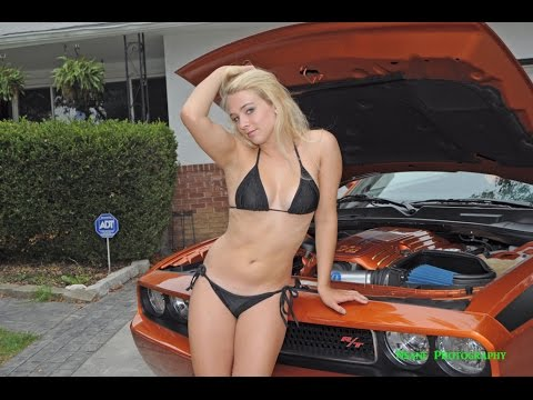 sexy bikini blonde hot dodge challenger 2 youtube
