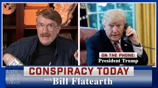 "President Trump Calls In To ""Conspiracy Today"" With Bill Flatearth"