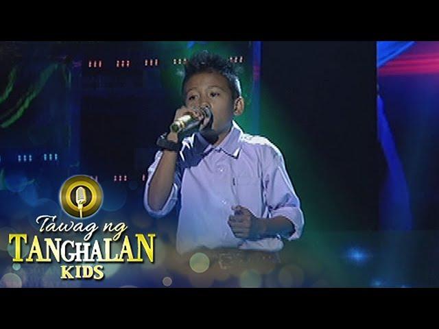 Tawag ng Tanghalan Kids: John Jamiel Convicto | Just The Way You Are