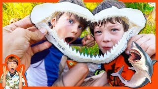 HIDDEN TREASURE HUNT CLUES FOUND in SHARKS JAWS!