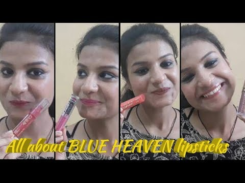 Review on BLUE HEAVEN LIPSTICKS | Chocolate mood, gossip and many more| Superstylewithme | Ayushi