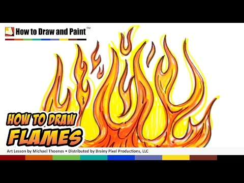 How to Draw Flames Graffiti Fire Drawing Lesson MAT