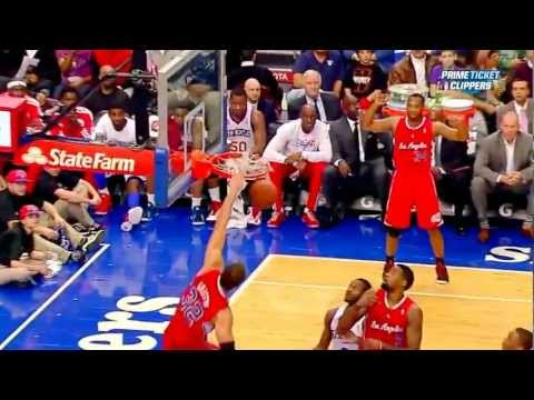 Blake Griffin DUNKS ON Spencer Hawes & DeAndre Jordan FOLLOWS UP