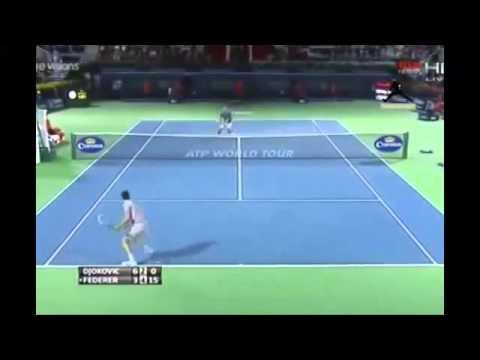 Roger Federer vs Novak Djokovic Highlights    Dubai 2014 SF