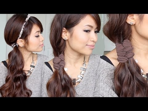 Easy Faux Braid Headband Hairstyles for Medium Long Hair Tutorial