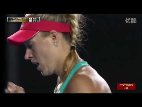 Angelique Kerber VS Serena Williams Highlight 2016 Australian Open Final