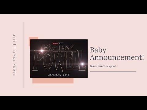Black Panther Baby Announcement! | Ebony Powell