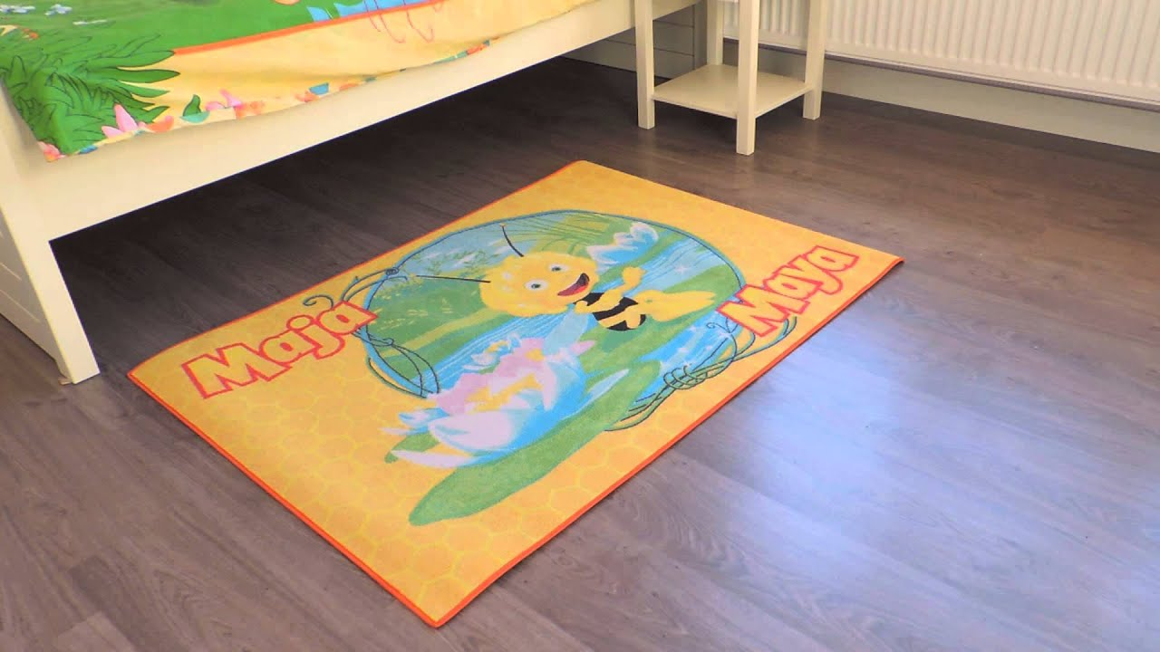 Speelmat Maya de Bij   Tapijt Maya de Bij voor kinderkamer   Vloerkleed kinderen   YouTube