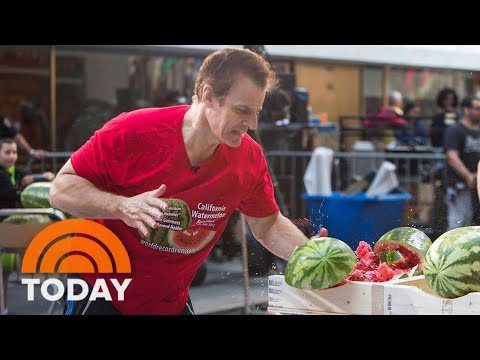 Watermelon Speed Slicer Sets Guinness World Record On The Plaza | TODAY