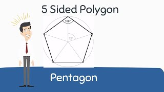 Pentagon Shape . | 5 Sided Polygon |