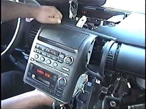 How to Remove Radio / CD Changer / Navigation from Infiniti G35 for Repair