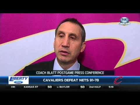 Cleveland Cavaliers head coach David Blatt credits team after bounce back win against Nets
