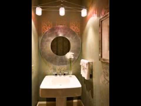 DIY Powder room paint decorating ideas - YouTube