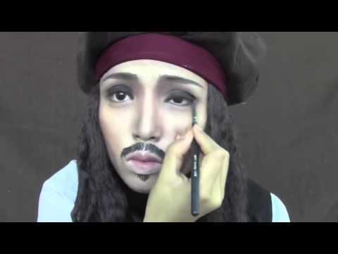 Johnny Depp Make up Transformation  (Edward Scissorhands, Captain Jack Sparrow & Willy Wonka)