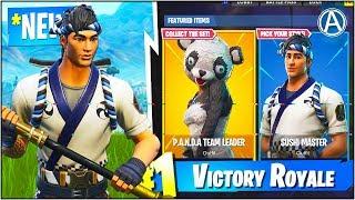 "NEW ""Sushi Master"" & ""Panda Team Leader"" SKIN Gameplay UPDATE! (Fortnite Battle Royale)"