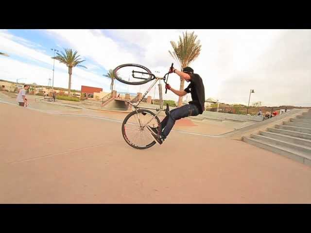 Michael Chacon 10 stair Bunnyhop barspin messup
