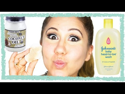 How to remove makeup with coconut oil