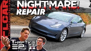 It Keeps Getting Worse! You Won't Believe How Long & Much to Fix Our Tesla Model 3 - Thrifty 3 Ep.11