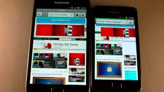 Samsung Galaxy Note vs Samsung Galaxy SII (S2) Browser Test