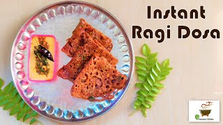 How to make Instant Ragi Dosa | Quick and Healthy Breakfast Recipe in 10 mins*