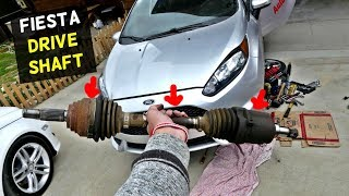 FORD FIESTA CX AXLE DRIVE SHAFT REPLACEMENT REMOVAL MK7 ST