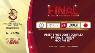 Chinese Taipei v Japan - World Championship Final - Women's Baseball World Cup