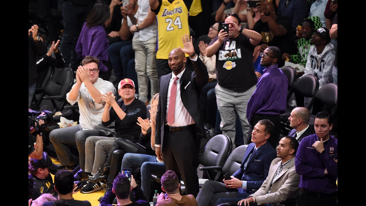 Kobe Bryant Receives Warm Welcome Back To Staples Center