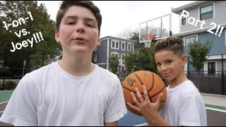 1-on-1 Basketball Game vs. Joey PART 2!!!! *CLUTCH SHOT*