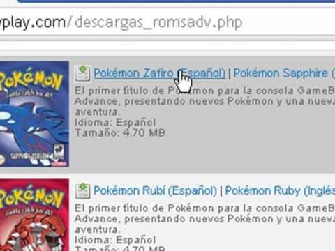 Como Descargar Pokemon Zafiro, Rubi, Rojo Fuego, Verde Hoja y Esmeralda