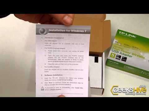 150Mbps High Power Wireless USB Adapter TL-WN7200ND TP-Link - Unboxing by www.ge