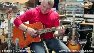 Fender T-Bucket 300CE Acoustic Guitar Demo - PMT